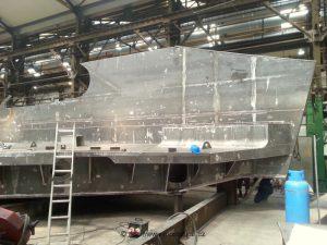 Výroba první nosné ocelové konstrukce v mostárně