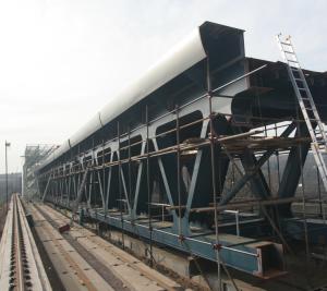 Nová OK mostu - na montážní plošině