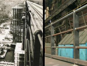 Porovnání původního a nového zábradlí